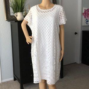 White Lace Dress by Isaac Mizrahi 1x